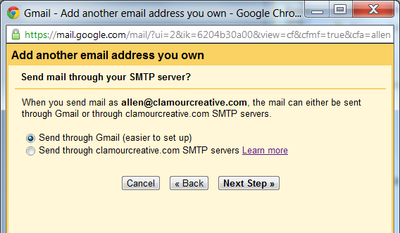 Send through your SMTP server?